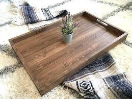 wood ottoman tray image 0 round wooden ottoman tray