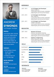 Modern Word Resume Template Free Modern Resume Template In Word Docx Format Good Resume
