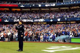 LAPD Officer Rosalind Curry Sings the National Anthem at World Series Game  6 | Billboard