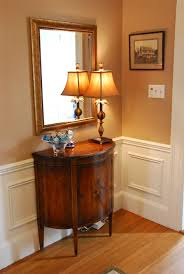 antique foyer furniture. magnificent small wooden foyer table with curved door as well antique shade lamps and mirror in corner living room furniture ideas a