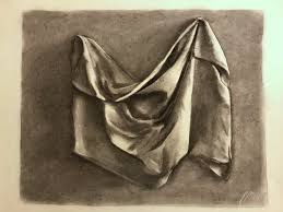 Drapery Drawing A Drapery Study I Did For Art Class Using Charcoal Drawing