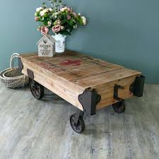 industrial style coffee table large railway cart tables legs steel l