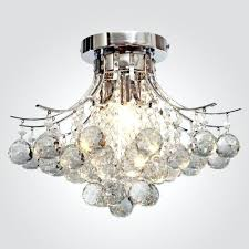 locoar chrome finish crystal chandelier with 3 lights mini style crystal flush mount loco chrome finish