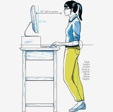 ergonomic standing desk height prep for desks evaluation 9