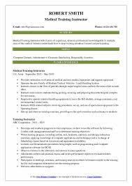Modern Resume For Instructors Training Instructor Resume Samples Qwikresume