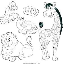 baby zoo animals coloring pages animal for preschool cute