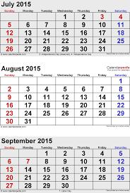 Free Blank Printable Calendar September 2015 Of On Monthly Calendar