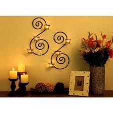 brass wall sconces tealight candles