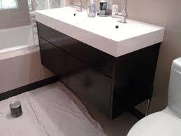 bathroom-stylish-double-sink-vanity-with-black-wooden-base-open