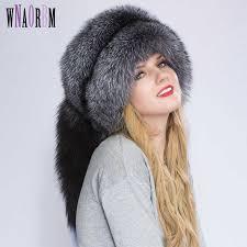 <b>Real Fox fur</b> Princess Hat Mongolia hat Unique process Fox tail ...