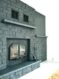 stone fireplace makeover photo 5 of 6 how to easily paint a grey tiles ideas stone veneer fireplace