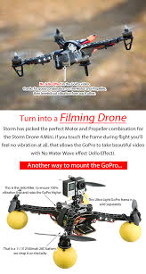 storm drone 4 mini flying platform rtf cc3d helipal it s easy to install a fpv system on the drone just connect the video transmitter to the gopro or a camera now you need some wiring