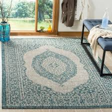 safavieh courtyard moroccan indoor outdoor grey teal area rug 5 3 x 7 7 for