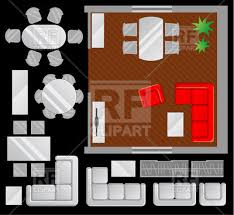 living room furniture clipart. room designing - living plan with furniture set, 29299, download royalty-free clipart