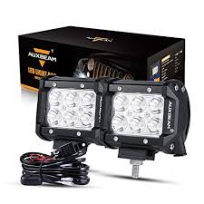 wiring harness for 4 off road lights wiring diagram amazon com auxbeam led light bar 4 inch 18w led pods 1800lm spotamazon com auxbeam led