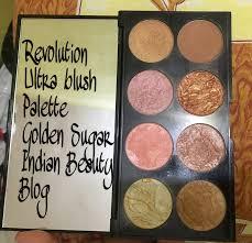 makeup revolution ultra blush palette golden sugar for new year glow