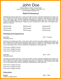 Retail Resume Sample Sales Retail Resume Sample Objective