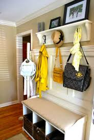 Diy Entryway Bench With Coat Rack Custom 32 DIY Entryway Bench Projects Decorating Your Small Space