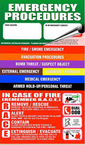 Emergency Procedures Flip Charts Safetygraphics