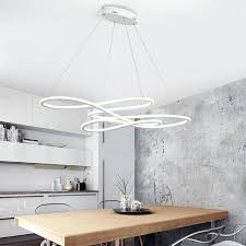 double ceiling light gleam glow modern led pendant for kitchen dining living room suspension hanging insulated
