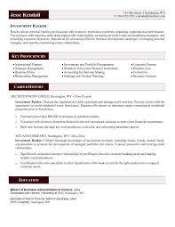 sample resume for investment banking investment banker resume
