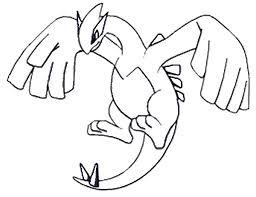Lugia Pokemon Leggendario Della Prima Generazione Disegno Disegni
