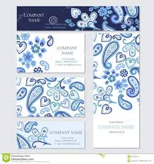 set of business or invitation cards templates stock vector set of business or invitation cards templates