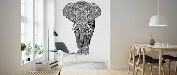 Henna Wall Designs Henna Elephant Made To Measure Wall Mural Photowall