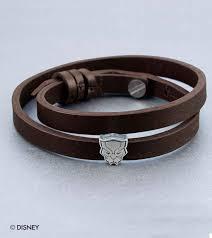 disney marvel black panther story bead faux leather band bracelet