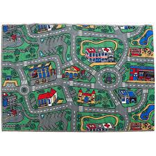 children s rug city roads play mat 100cm x 150cm