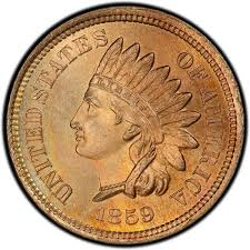 1859 Indian Head Pennies Values And Prices Past Sales