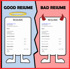 example of bad resumes examples of good and bad resumes free letter templates