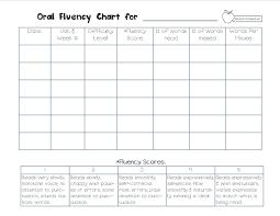 Fluency Chart Reading Fluency Reading Charts Teaching