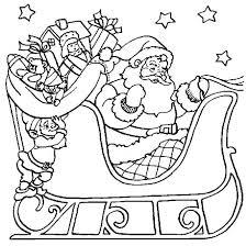 Santa Sleigh Coloring Page Sleigh Coloring Page Santa Claus Sleigh