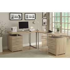 monarch white hollow core corner desk specialties in cappuccino left or right side brown contemporary