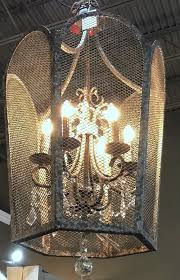 caged metal chandelier