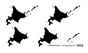 地図map シルエットデザイン