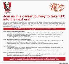 Kfc Job Application Free Resumes Tips