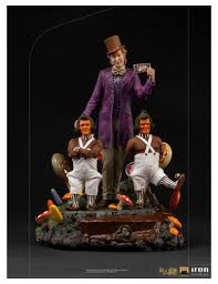 Charlie et la Chocolaterie (1971) statuette Deluxe Art Scale 1/10 Willy  Wonka IRON STUDIOS