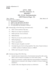 what does bsc stand for s y b sc 2013 pattern old question paper