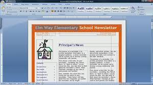 Newsletter Format Microsoft Word 2007 Milviamaglione Com