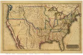 old maps of the usa  prints