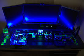 this custom built computer desk case will make your pc feel
