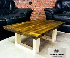 handmade rustic live edge coffee table