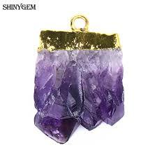 <b>ShinyGem Natural</b> Crystal Slice Pendants Irregular <b>Druzy</b> Raw ...