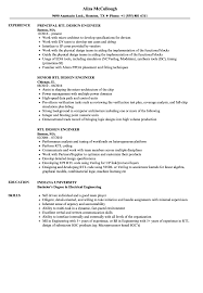 Rtl Design Engineer Resume Samples Velvet Jobs