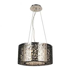 aramis collection 6 light chrome finish and clear crystal drum chandelier 16 d x 9