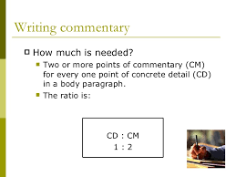 what is commentary  writing commentary