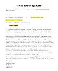 Permission Letters Template 13 Permission Request Letter Pdf Free Premium Templates