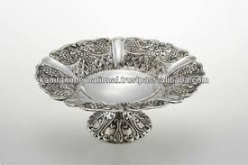 Decorative Metal Fruit Bowls Silver Antique Embossed Fruit BowlLarge Fruit BowlModern Metal 38